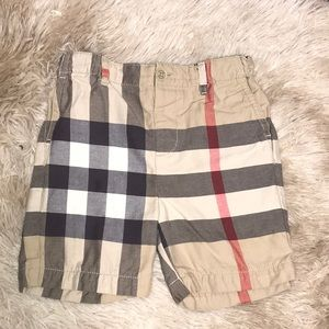 Burberry Boys Tartan Plaid Shorts Size 3